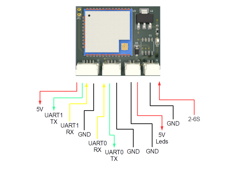 Signaling device for drones - connectors